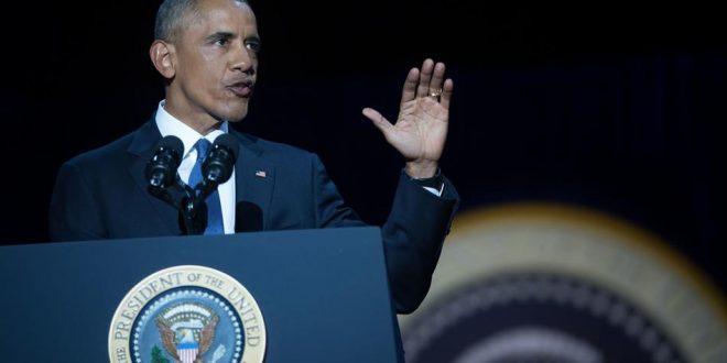 奧巴馬昨天發表告別演说